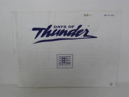 Days of Thunder - NES Manual